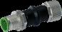 adaptor M12 male 5pol./ M12 female 4pol. shielded