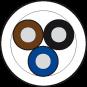 Przewód PUR-OB 3x0,34 czarny, 500m