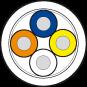 Przewód PUR-OB 1x4x,015 ekranowany, zielony, UL CSA, 100m