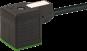 Konektor zaworowy MSUD, typ A 18mm z wolnym końcem przewodów